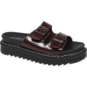 Levně Bordó pantofle Catwalk
