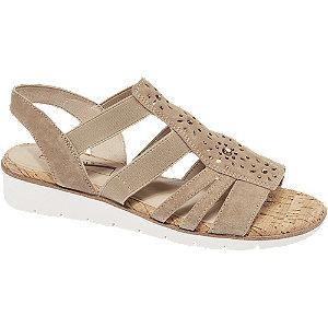 Levně Béžové kožené komfortní sandály Medicus
