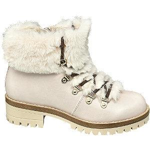 Levně Béžová kotníková obuv Graceland se zipem