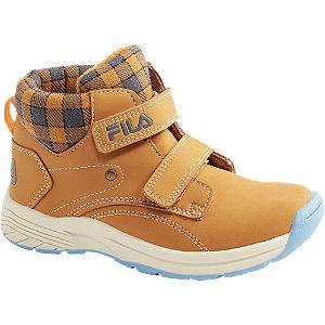 Levně Béžová kotníková obuv na suchý zip Fila