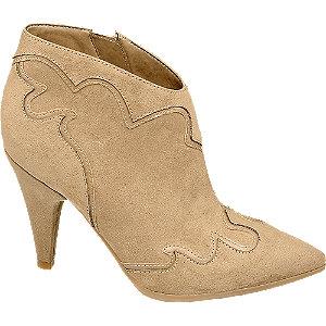 Levně Béžové nízké kozačky Rita Ora