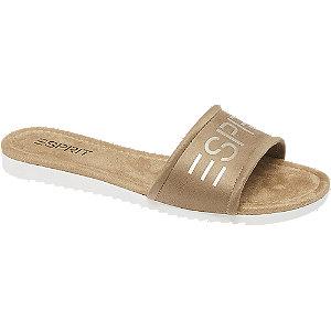 Levně Béžové pantofle Esprit