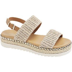 Levně Béžové sandály na platformě Catwalk