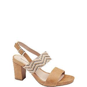 Levně Béžové sandály na podpatku Catwalk
