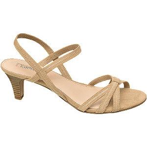 Levně Béžové sandály na podpatku Esprit