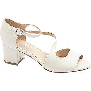 Levně Béžové sandály na podpatku Graceland