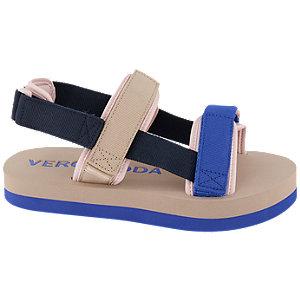 Levně Béžovo modré sandály na suchý zip Vero Moda