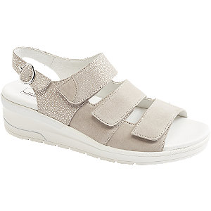 Levně Béžovo-šedé komfortní sandály Medicus
