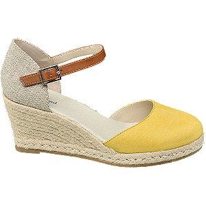 Levně Béžovo-žluté sandály na klínku Graceland
