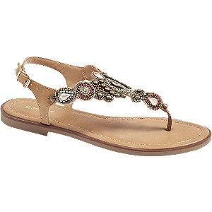 Levně Béžovo-oranžové sandály Graceland