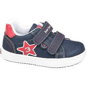 Levně Dětské tmavě modré tenisky na suchý zip Bobbi-Shoes