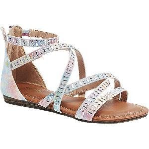E-shop Duhové sandály s kamínky na zip Graceland