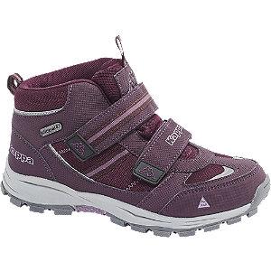 Levně Fialová kotníková obuv na suchý zip s TEX membránou Kappa