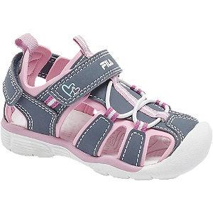 Levně Fialovo-růžové dětské sandály Fila