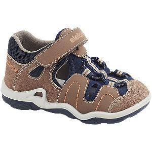 Levně Hnědé dětské kožené sandály Elefanten