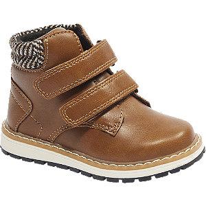 Levně Hnědá dětská kotníková obuv na suchý zip Bobbi-Shoes