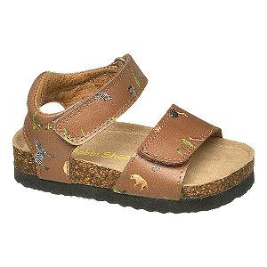 Levně Hnědé dětské sandály Bobbi-Shoes