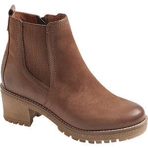 Levně Hnědá kožená Chelsea obuv 5th Avenue