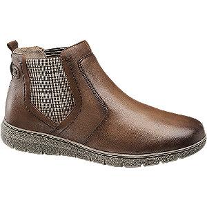 Levně Hnědá kožená komfortní Chelsea obuv Medicus