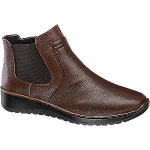 Levně Hnědá kožená komfortní obuv Medicus