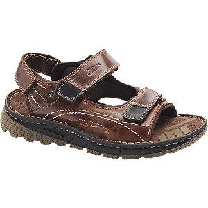 Levně Hnědé kožené komfortní sandály Gallus