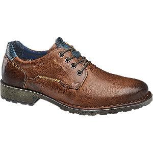 Levně Hnědé kožené polobotky AM Shoe
