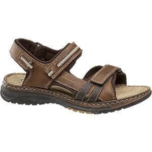 Levně Hnědé kožené sandály Gallus