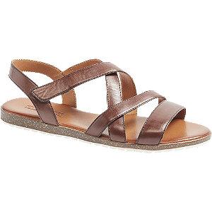 Levně Hnědé kožené sandály 5th Avenue