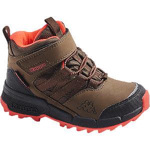 Levně Hnědá kotníková obuv na suchý zip Kappa s TEX membránou