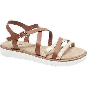 Levně Hnědé sandály Graceland