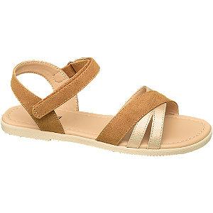 Levně Hnědé sandály Graceland na suchý zip