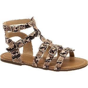 Levně Hnědé sandály Graceland se zvířecím vzorem