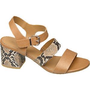 Levně Hnědé sandály se zvířecím vzorem Graceland