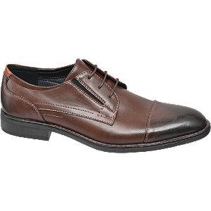 Levně Hnědá společenská obuv Memphis One