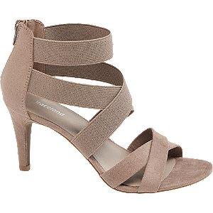 Levně Hnědo-béžové sandály na podpatku Graceland