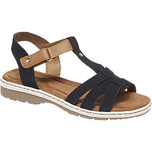 Levně Hnědo-modré komfortní sandály Easy Street
