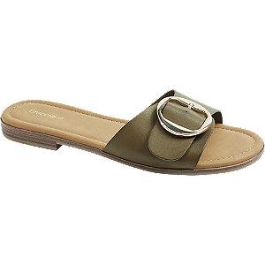 Levně Khaki pantofle Graceland