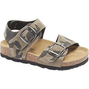 Levně Khaki sandály Bobbi-Shoes