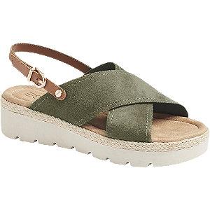 Levně Khaki sandály Esprit