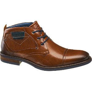 Levně Kožená šněrovací obuv AM Shoe hnědá