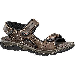 Levně Kožené sandály