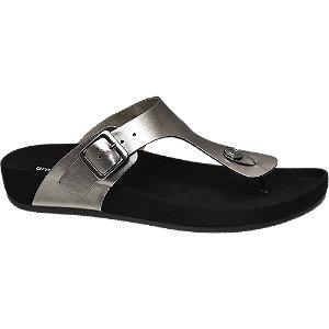 Levně Metalické žabky Graceland stříbrno-černé