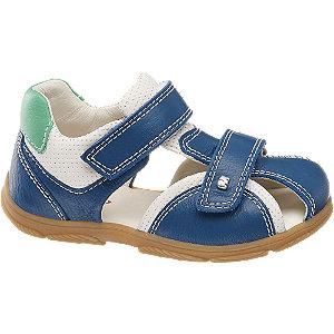 Levně Modré dětské kožené sandály Elefanten na suchý zip