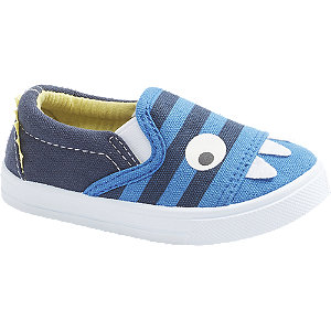 Levně Modré dětské přezůvky Bobbi-Shoes