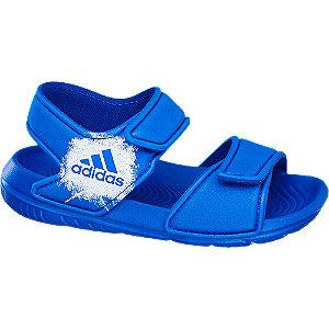 Levně Modré dětské plážové sandály Adidas