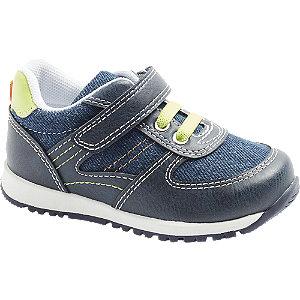 Levně Modré dětské tenisky na suchý zip Bobbi-Shoes