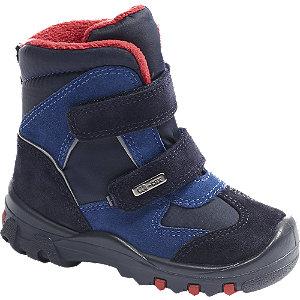 Levně Modrá dětská zimní obuv na suchý zip Elefanten s TEX membránou