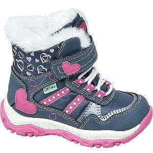 Levně Modrá dívčí zimní obuv na suchý zip Cortina s TEX membránou