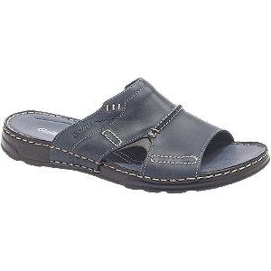 Levně Modré kožené komfortní pantofle Gallus