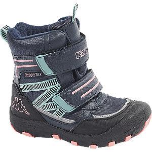 Levně Modrá kotníková obuv na suchý zip Kappa s TEX membránou